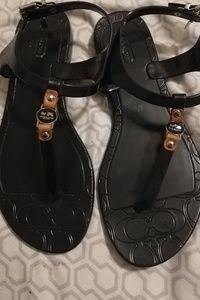 Coach Shoes - Black coach sandals